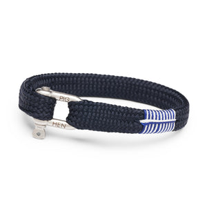 Pig & Hen Sharp Simon Navy and Silver Bracelet