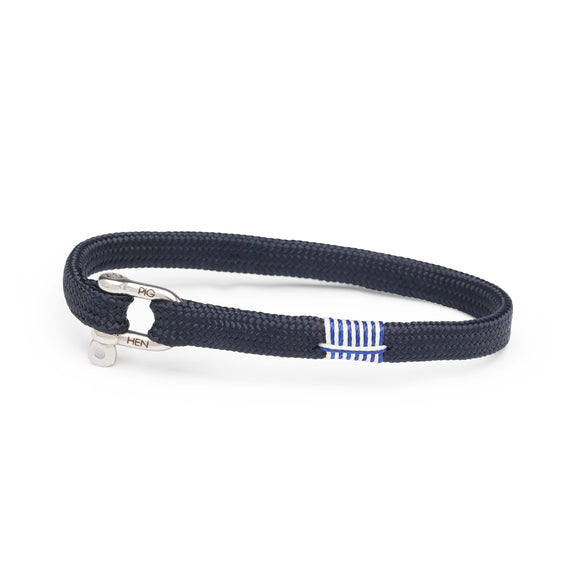 Pig & Hen Vicious Vik Navy and Silver Bracelet