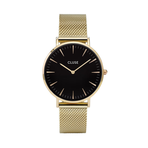 CLUSE Ladies La Boheme Mesh Gold/Black Watch
