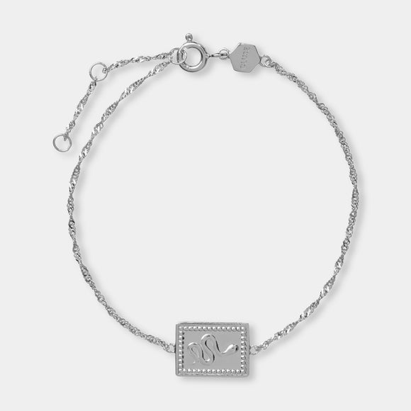 CLUSE Force Tropicale Silver Twisted Chain Tag Bracelet