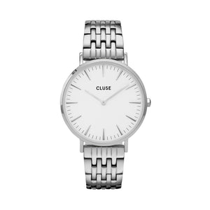CLUSE Ladies La Boheme Silver/White Link Watch