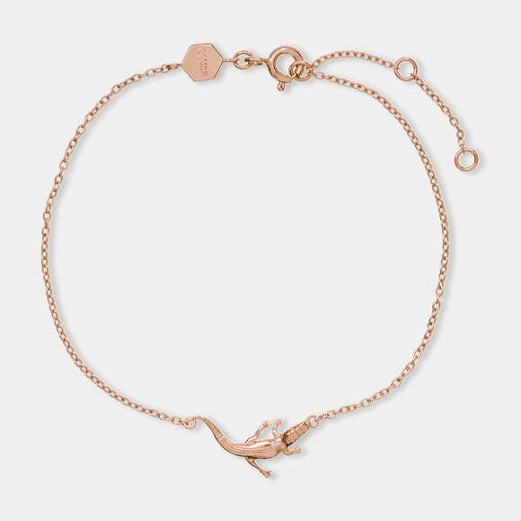 CLUSE Force Tropicale Rose Gold Alligator Chain Bracelet