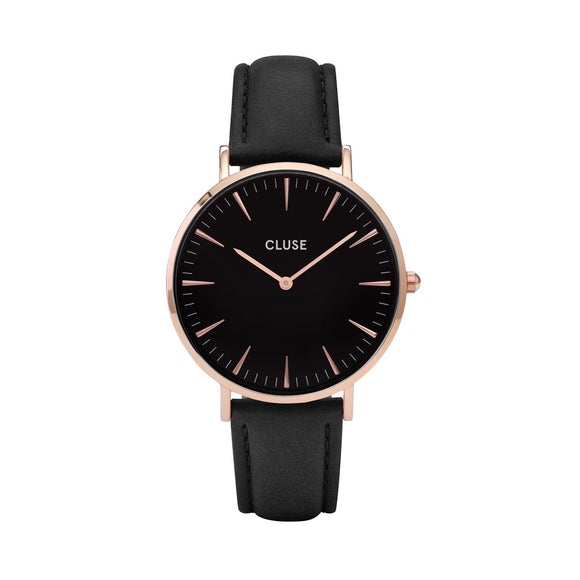 CLUSE Ladies La Boheme Rose Gold/Black Watch