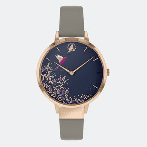 Sara Miller London Navy Hummingbird Watch
