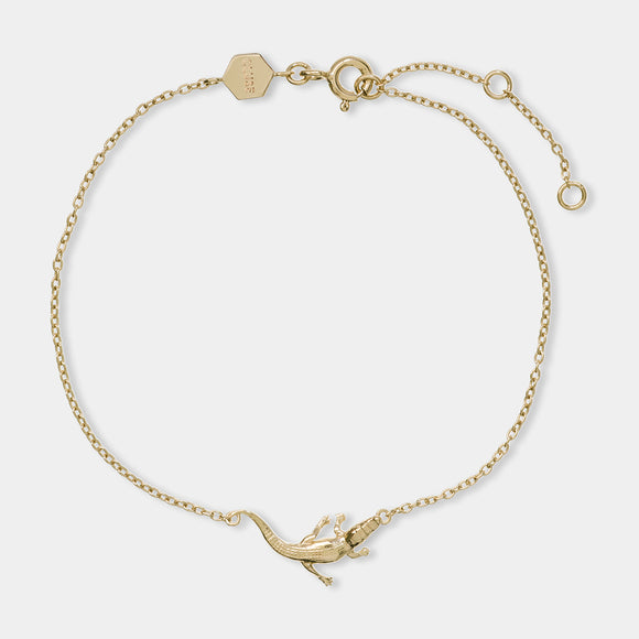 CLUSE Force Tropicale Gold Alligator Chain Bracelet