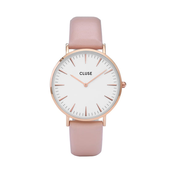 CLUSE Ladies La Boheme Rose Gold White/Pink Watch