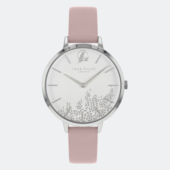 Sara Miller London Silver Leaf Watch