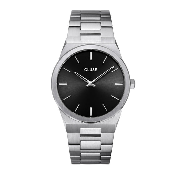 CLUSE Vigoureux Mens Silver Black/Silver Link Watch