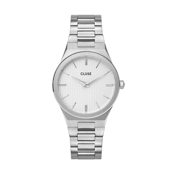 CLUSE Vigoureux Silver/Snow White Silver Watch