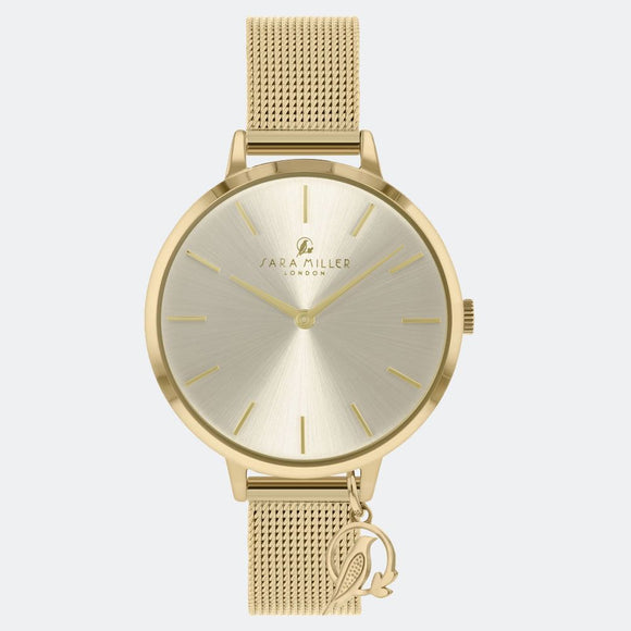Sara Miller London Gold/Champagne Charm Watch