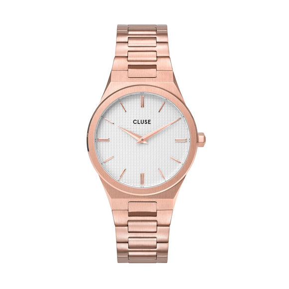 CLUSE Vigoureux Rose Gold/Snow White Rose Gold Watch