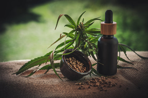 A bottle of CBD that may be used to modify negative THC effects
