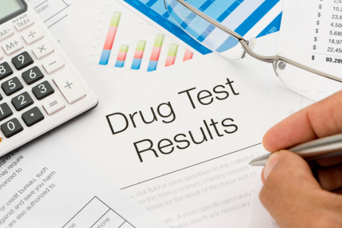 A photo of Drug Test Results documents