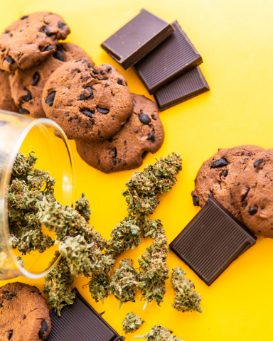 A variety of Delta-8-THC cookies and chocolates that may have a shorter shelf life than other Delta-8 products.