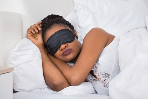 A woman sleeping peacefully after her Delta-8-THC dose