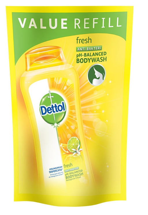 Dettol Body Wash Antiseptic Fresh Refill 410ml - Tuquh