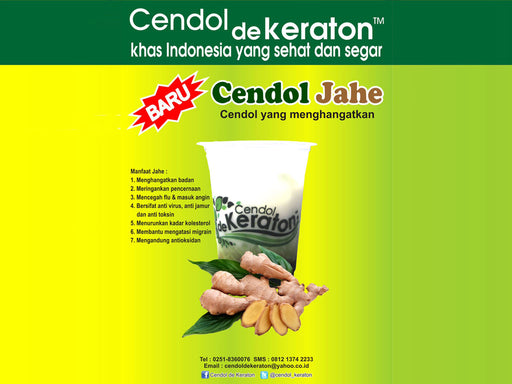 Cendol De Keraton Topping Jahe 400 ml per cup - Tuquh