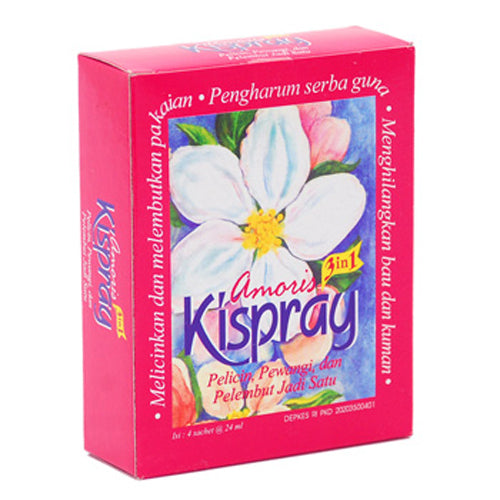 Pelicin Pakaian Kispray Amoris Box 24ml X 4 - Tuquh