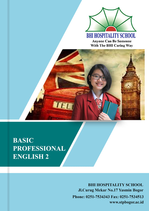 Buku Cetak BHI Basic Professional English 2 - Tuquh
