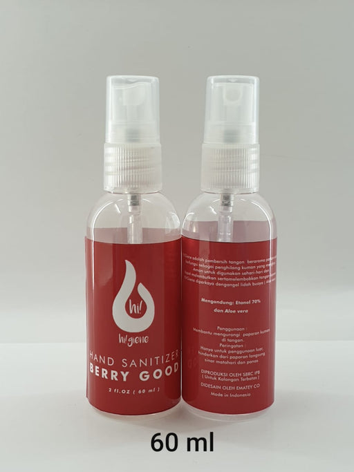 hi! giene Hand Sanitizer Berry Good 60ml - Tuquh