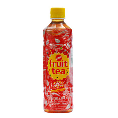 Minuman Fruit Tea Apel 500ml botol - Tuquh