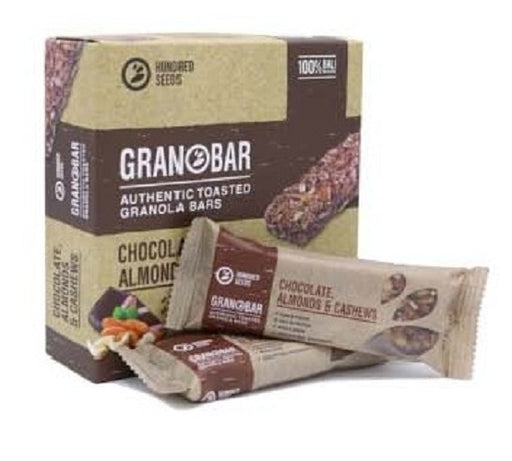 Hundred Seed Granobar Chocolate, Almonds & Cashews 145 gr - Tuquh