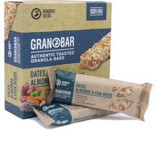 Granobar Dates, Almonds & Chia Seeds 145gr (5 Pieces) - Tuquh
