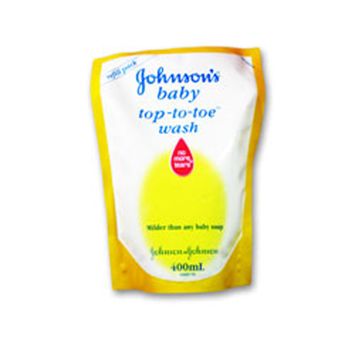 Sabun Bayi Johnson's Baby Top To Toe Wash No More Tears 400ml refill - Tuquh
