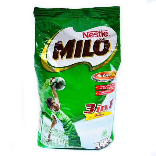 MILO Nestle Activ GO 3in1 Bag 1Kg - Tuquh