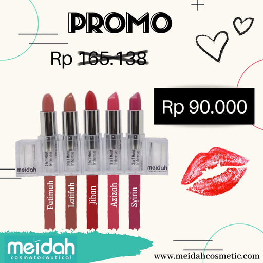 Meidah 3 in 1 Lip, Cheek 'n Eyeshadow Moist Stick - Tuquh
