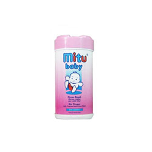 Tissue Mitu Baby Wet Pink Non Alcohol bottle 60s - Tuquh