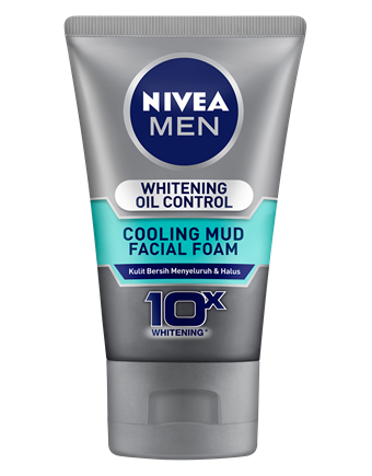 Nivea Men Whitening Oil Control Cooling Mud Facial Foam 100ml - Tuquh