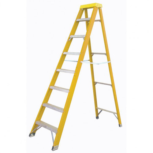 Yellow Fiberglass Step Ladder KW01-3423 - Tuquh