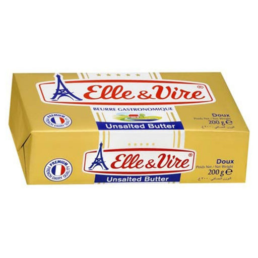 Butter Elle & Vire Unsalted 200 gr - Tuquh