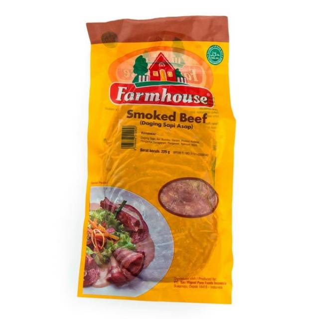 Farmhouse Smoked Beef 225 Gr Per pack