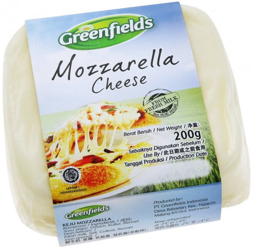 Greenfields Mozzarella Cheese 200 gr - Tuquh