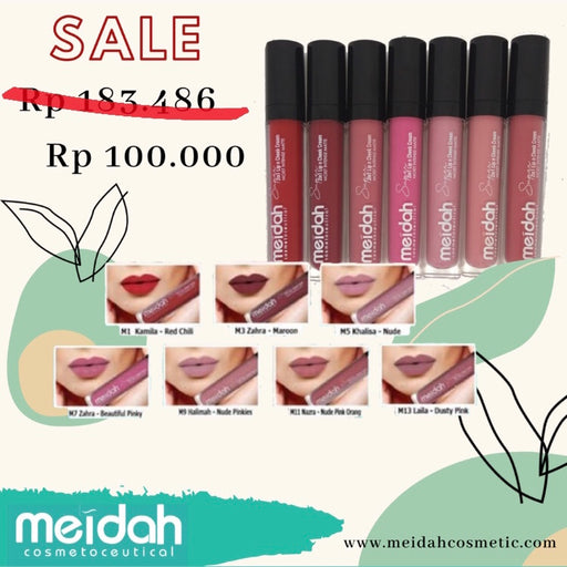 Meidah 2 in 1 Lip 'n Cheek Moist Intense Matte - Tuquh