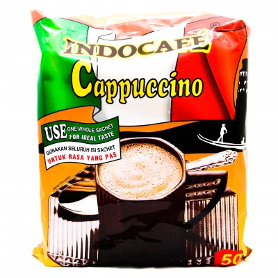 Kopi Indocafe Cappucino Per Pack (25gr x 50 Pieces) - Tuquh