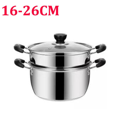 Panci Stainless Steel Soup Pot Thick Cooking  16-26cm - Tuquh