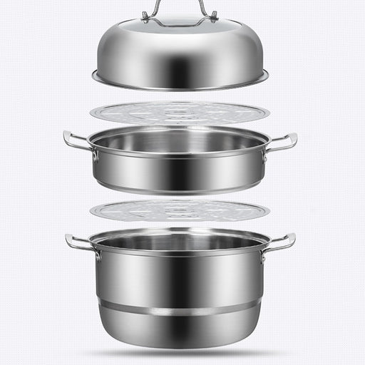 1 Pcs 3 Layer Thicken Stainless Steel Pot Soup Panci Serbaguna - Tuquh