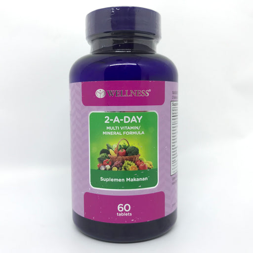 Wellness 2-A-DAY 60 Tablets - Tuquh