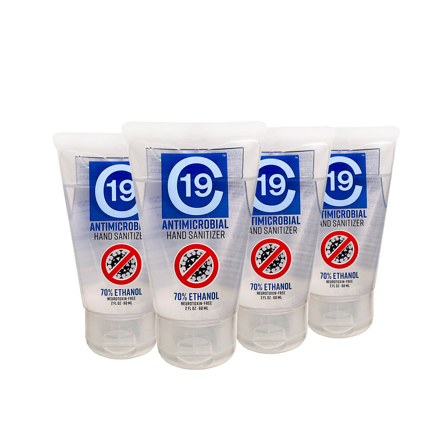 *NEW* Antimicrobial Hand Sanitizer Gel 70% Ethanol - 2 ounce tube - 4 pack