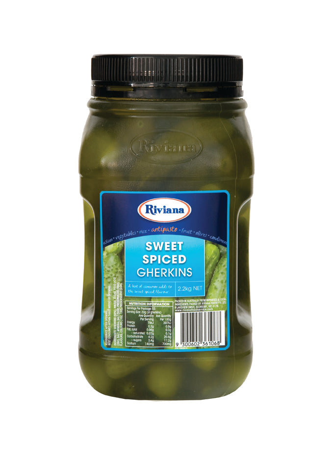 Pickles Sweet Spiced Whole Gherkins 2.2kg Riviana