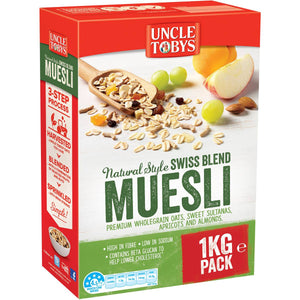 Muesli Natural Swiss 1kg Uncle Toby's