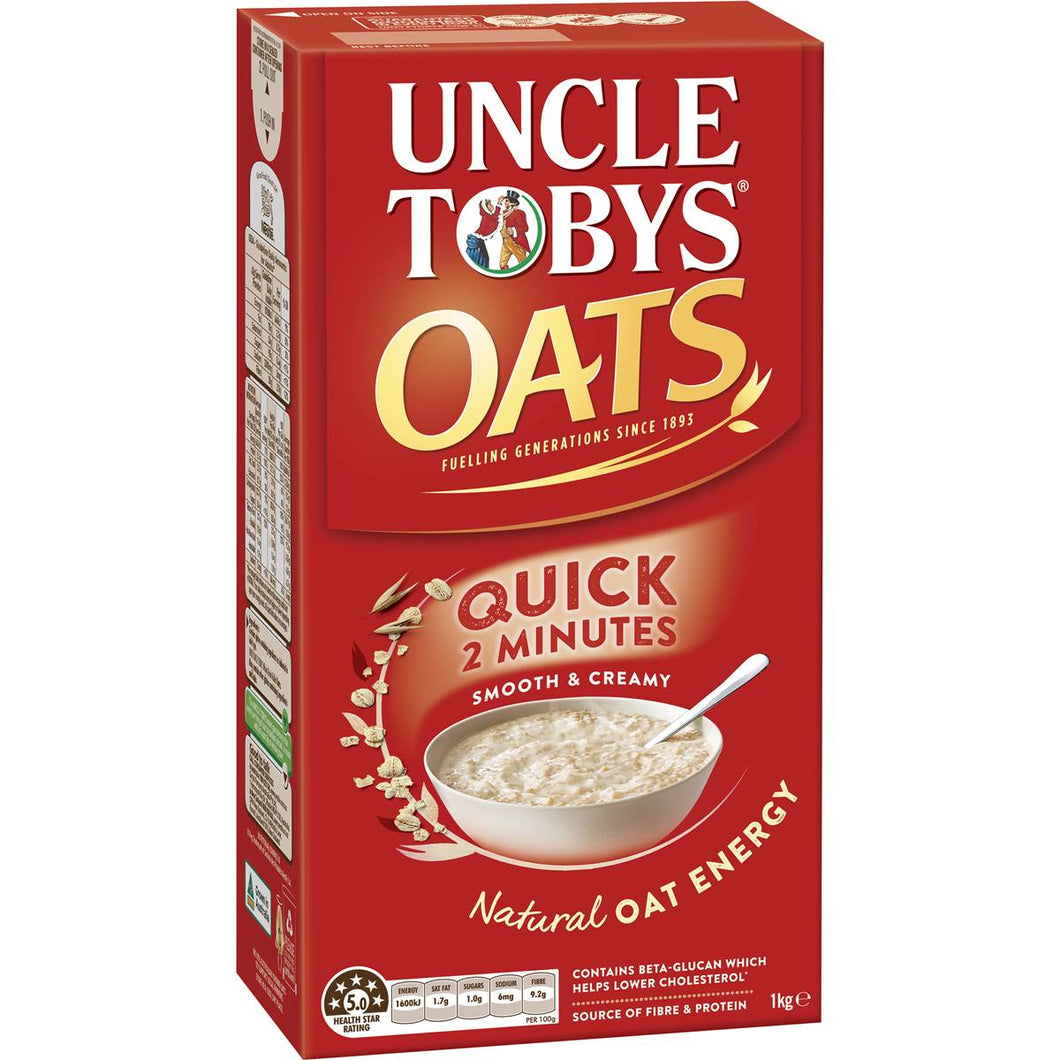 Quick Oats Uncle Toby's 1kg