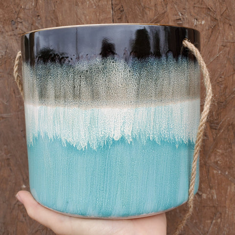 Blue Hanging Ceramic Pot
