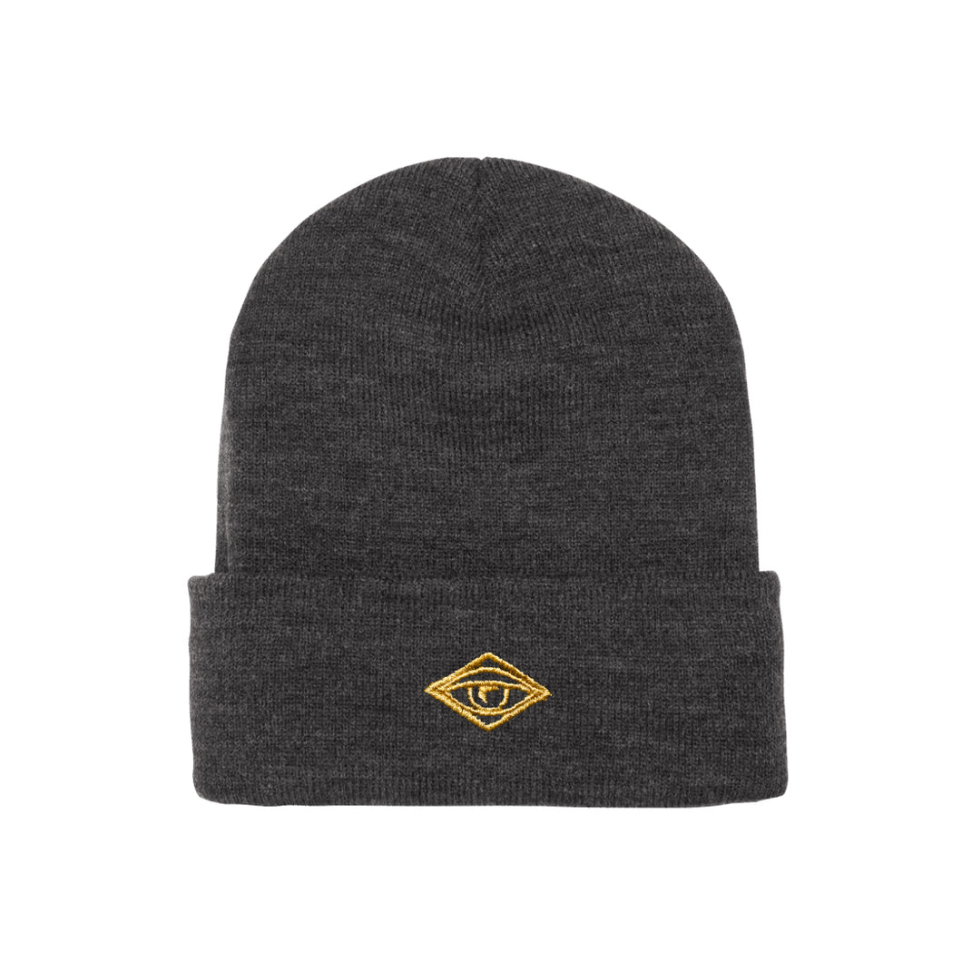 Gold Eye Toque – Charcoal