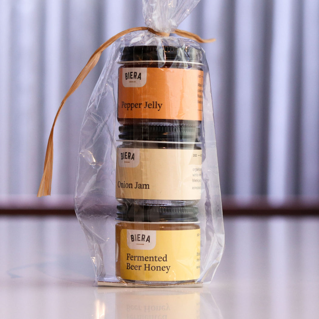 2oz Gift Pack with Honey, Onion Jam & Pepper Jelly
