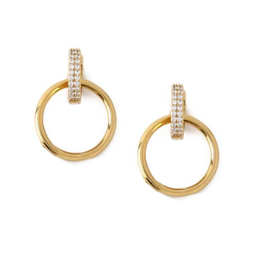 HOOP INTERLOCKING EARRINGS