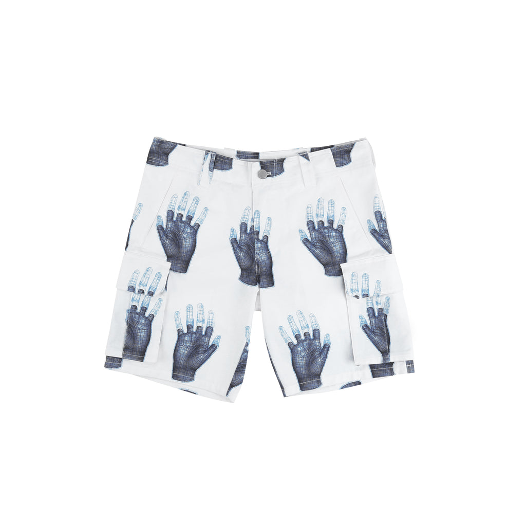 "18SS ""ZERO GRAVITY"" 3D HAND MODEL PRINT SHORTS"